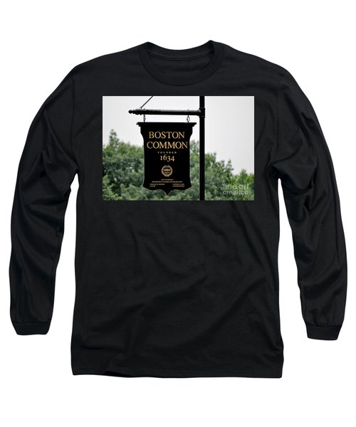 Boston Common Ma Long Sleeve T-Shirt