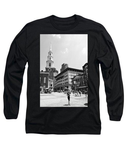 Boston Common Scene Long Sleeve T-Shirt