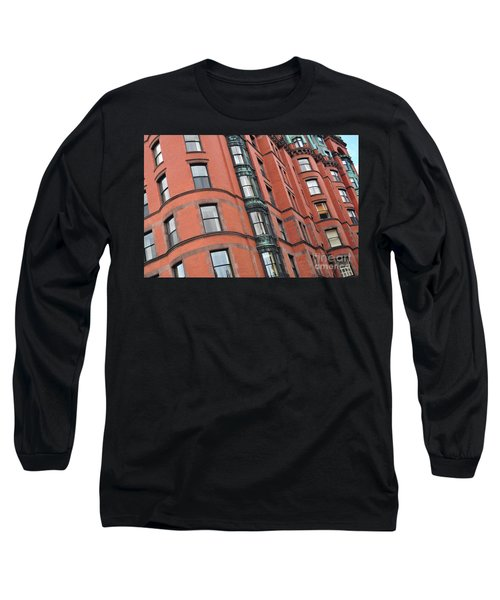 Boston Ma Building Facade Long Sleeve T-Shirt