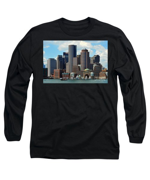 Long Sleeve T-Shirt featuring the photograph Boston Skyline by Randi Grace Nilsberg