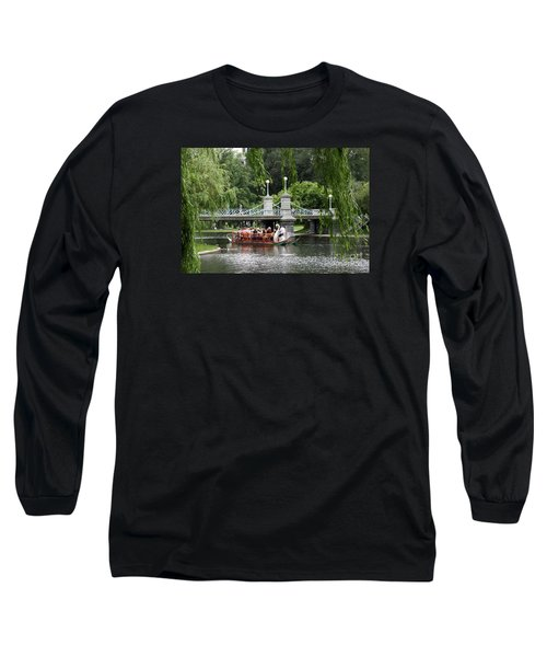 Boston Swan Boat Long Sleeve T-Shirt by Christiane Schulze Art And Photography