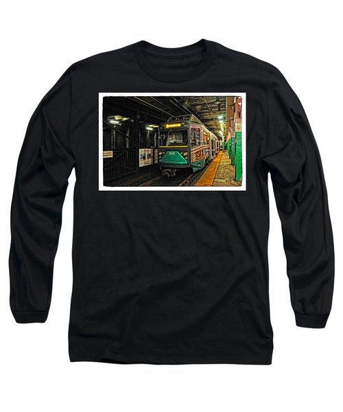 Long Sleeve T-Shirt featuring the photograph Boston's Mbta Green Line by Mike Martin