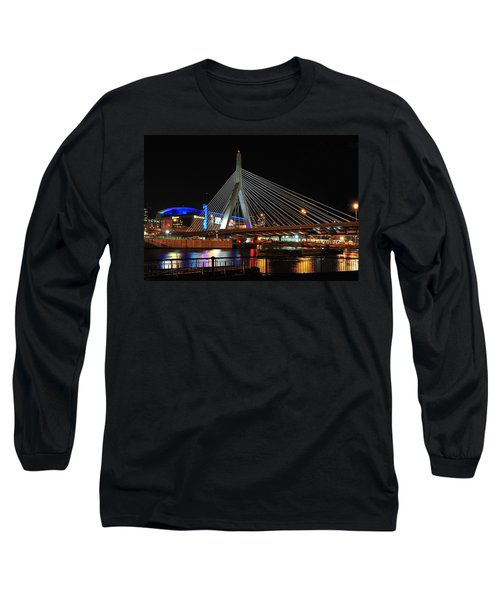 Long Sleeve T-Shirt featuring the photograph Boston's Zakim-bunker Hill Bridge by Mitchell R Grosky