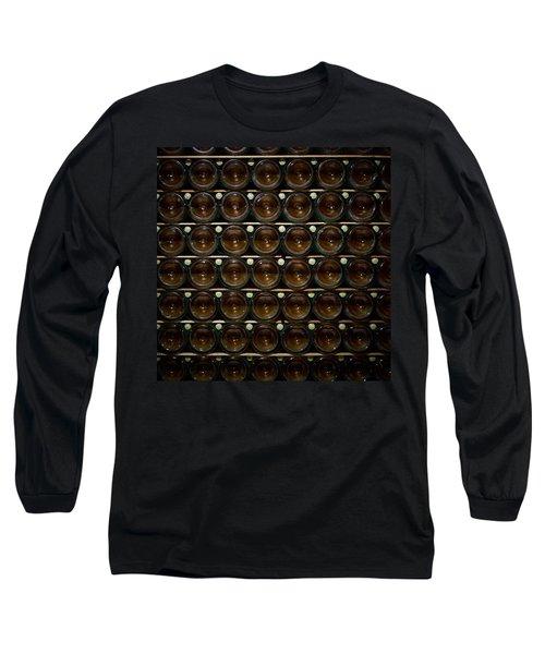 Bottles. Ca Del Bosco Winery. Franciacorta Docg Long Sleeve T-Shirt by Jouko Lehto