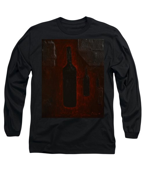 Long Sleeve T-Shirt featuring the painting Bottles by Shawn Marlow