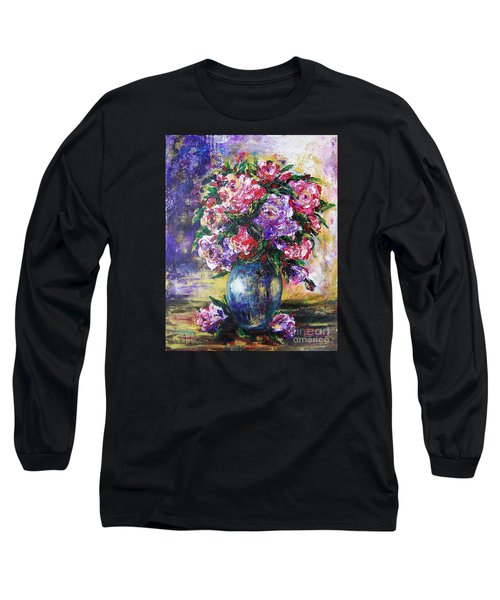 Long Sleeve T-Shirt featuring the painting Bouquet Of Scents by Vesna Martinjak
