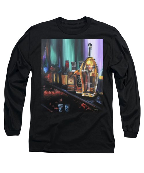 Bourbon Bar Oil Painting Long Sleeve T-Shirt