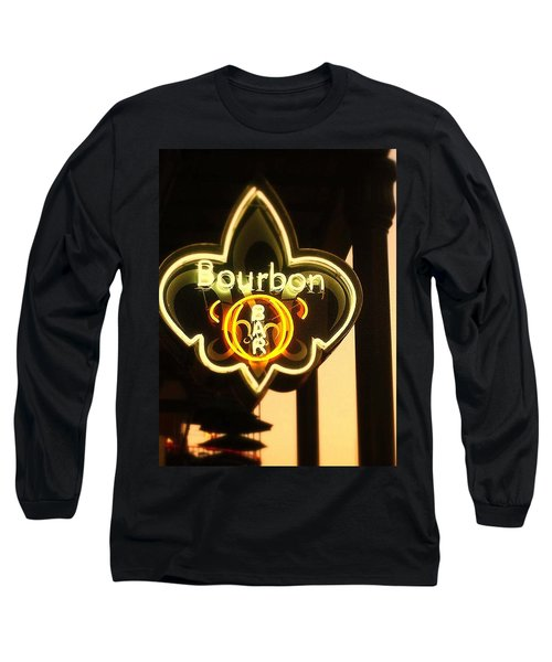 Bourbon Street Bar New Orleans Long Sleeve T-Shirt by Saundra Myles