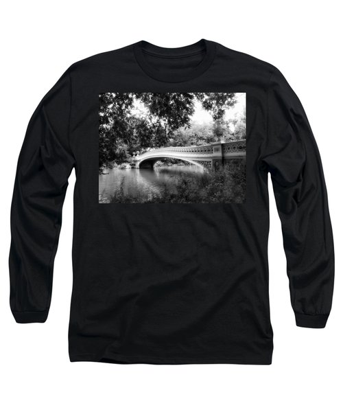 Bow Bridge In Black And White Long Sleeve T-Shirt