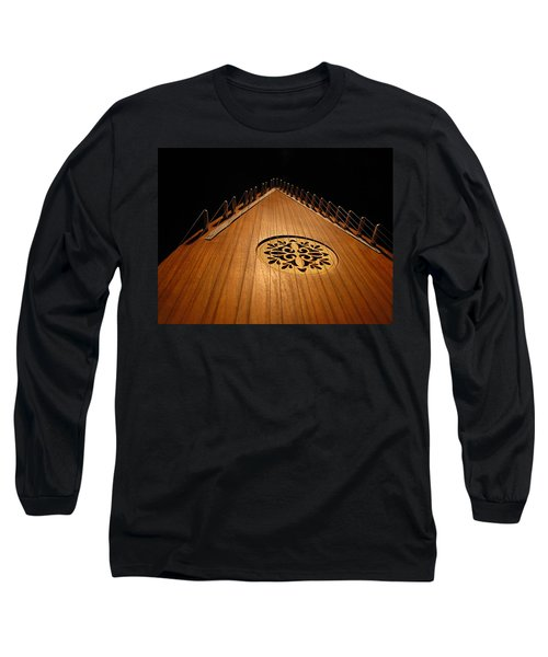 Long Sleeve T-Shirt featuring the photograph Bowed Psaltery by Greg Simmons