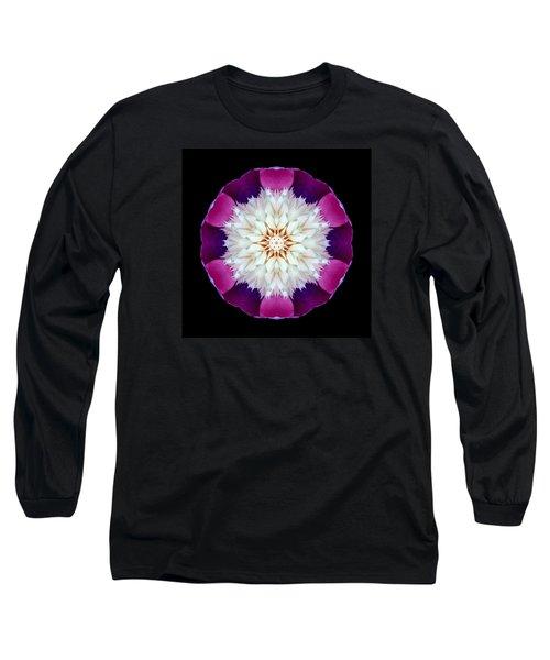 Bowl Of Beauty Peony II Flower Mandala Long Sleeve T-Shirt by David J Bookbinder