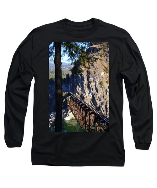 Box Canyon Dam Railroad Crossing Long Sleeve T-Shirt