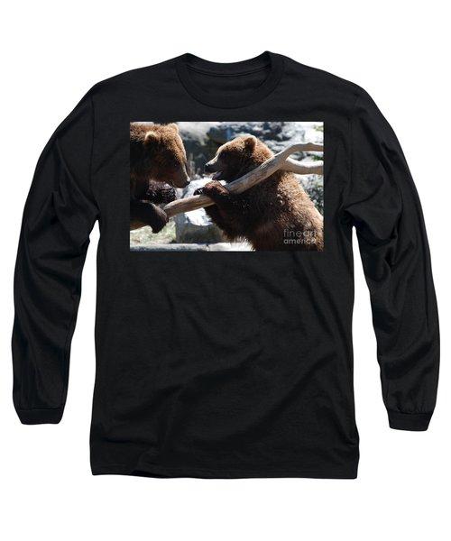 Brawling Bears Long Sleeve T-Shirt by DejaVu Designs