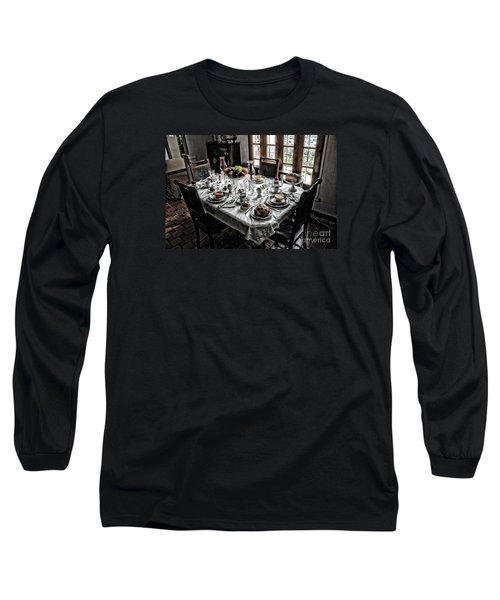 Downton Abbey Breakfast Long Sleeve T-Shirt by The Art of Alice Terrill