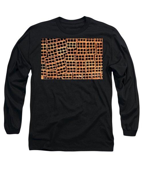 Brick Abstract Long Sleeve T-Shirt by Vivian Christopher