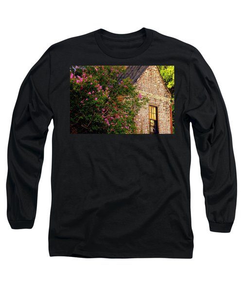 Long Sleeve T-Shirt featuring the photograph Brick And Myrtle by Rodney Lee Williams