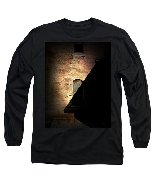 Brick And Shadow Long Sleeve T-Shirt by Cynthia Lassiter