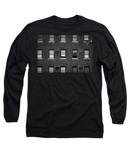 Brick Wall And Windows Long Sleeve T-Shirt