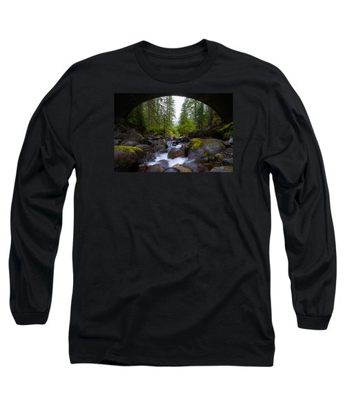 Bridge Below Rainier Long Sleeve T-Shirt