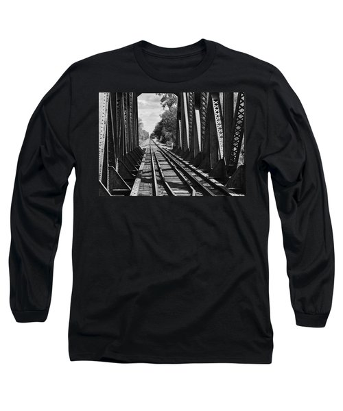 Bridge In Black And White Long Sleeve T-Shirt
