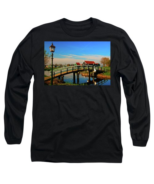 Bridge Over Calm Waters Long Sleeve T-Shirt by Jonah  Anderson