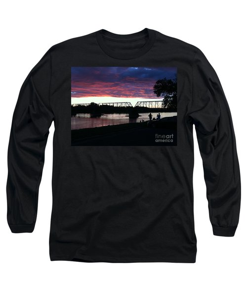 Bridge Sunset In June Long Sleeve T-Shirt