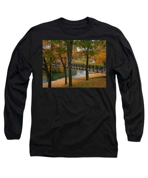 Long Sleeve T-Shirt featuring the photograph Bridge To Fall by Elizabeth Winter