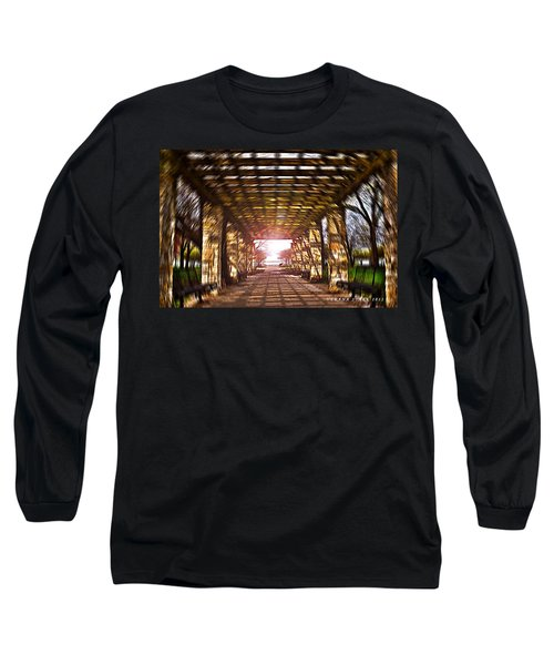 Long Sleeve T-Shirt featuring the photograph Bridge To The Light From The Series The Imprint Of Man In Nature by Verana Stark