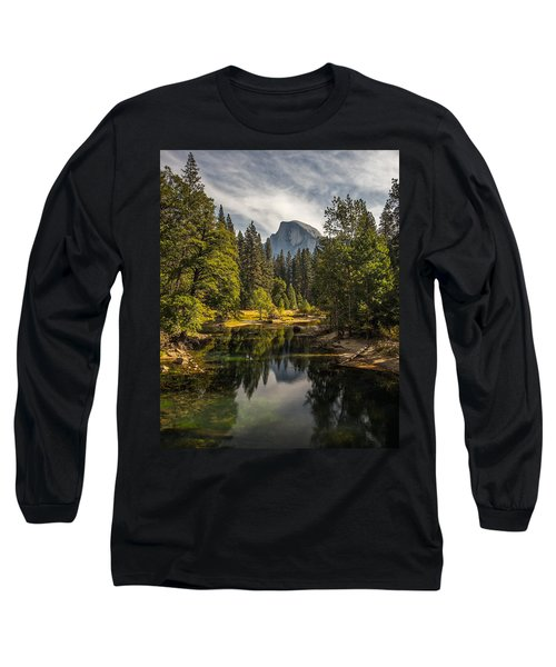 Bridge View Half Dome Long Sleeve T-Shirt by Peter Tellone