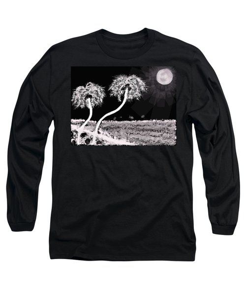 Bright Night In The Tropics Long Sleeve T-Shirt