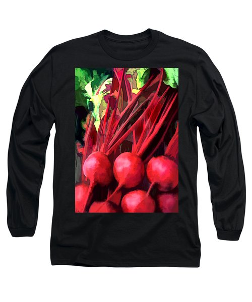 Bright Red Beets Long Sleeve T-Shirt