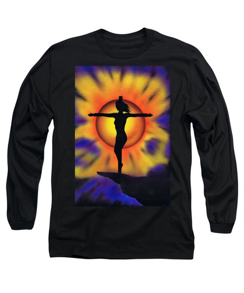 Long Sleeve T-Shirt featuring the painting Bring Me Back To Life. by Kenneth Clarke