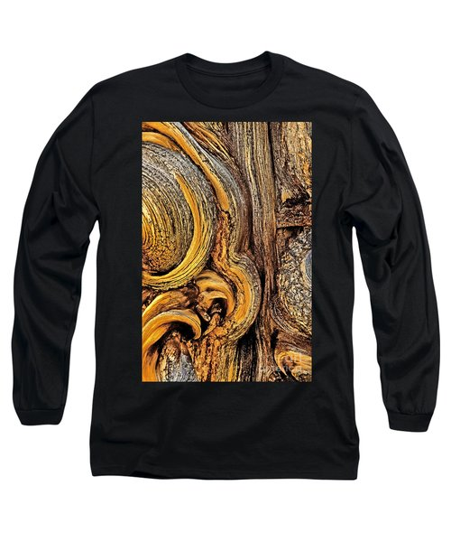Long Sleeve T-Shirt featuring the photograph Bristlecone Pine Bark Detail White Mountains Ca by Dave Welling