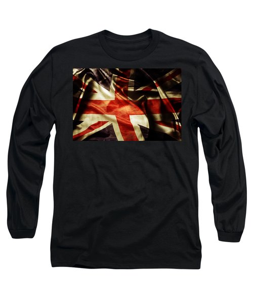 British Flag  Long Sleeve T-Shirt by Les Cunliffe