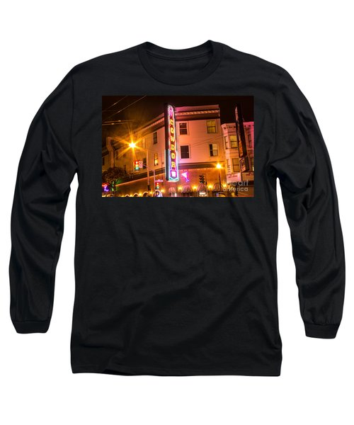 Long Sleeve T-Shirt featuring the photograph Broadway At Night by Suzanne Luft