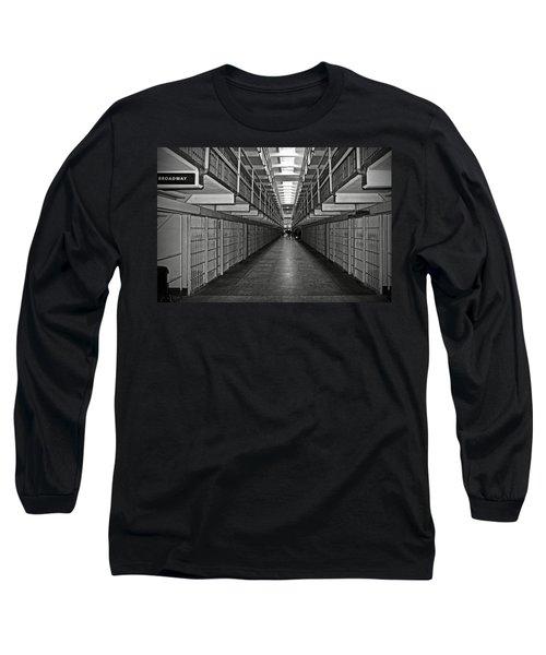 Broadway Walkway In Alcatraz Prison Long Sleeve T-Shirt