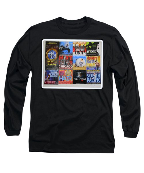 Broadway's Favorites Long Sleeve T-Shirt by Dora Sofia Caputo Photographic Art and Design