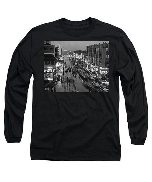 Bronx Fordham Road At Night Long Sleeve T-Shirt
