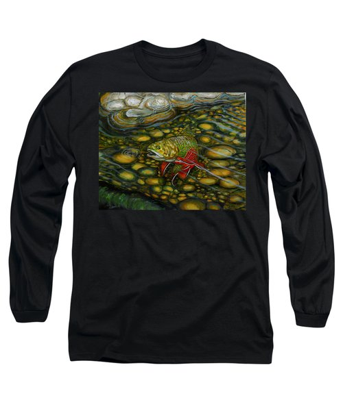 Brook Trout Long Sleeve T-Shirt by Steve Ozment