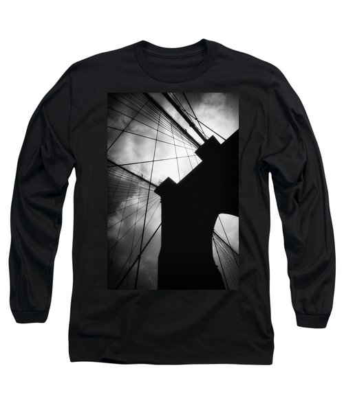 Brooklyn Bridge Silhouette Long Sleeve T-Shirt