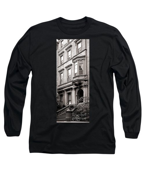 Brooklyn Heights -  N Y C - Classic Building And Bike Long Sleeve T-Shirt