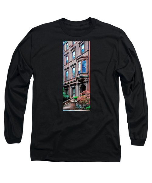 Brooklyn Heights - Nyc - Classic Building And Bike Long Sleeve T-Shirt