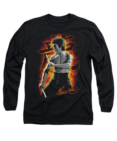 Bruce Lee - Dragon Fire Long Sleeve T-Shirt by Brand A