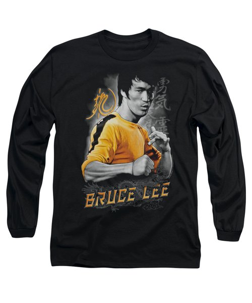 Bruce Lee - Yellow Dragon Long Sleeve T-Shirt by Brand A