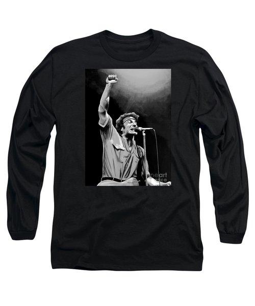 Bruce Springsteen Long Sleeve T-Shirt by Meijering Manupix