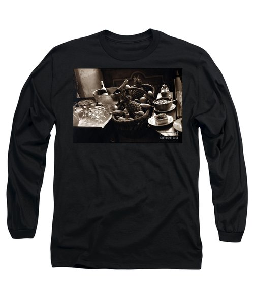 Brunch In The Loire Valley Long Sleeve T-Shirt by Madeline Ellis
