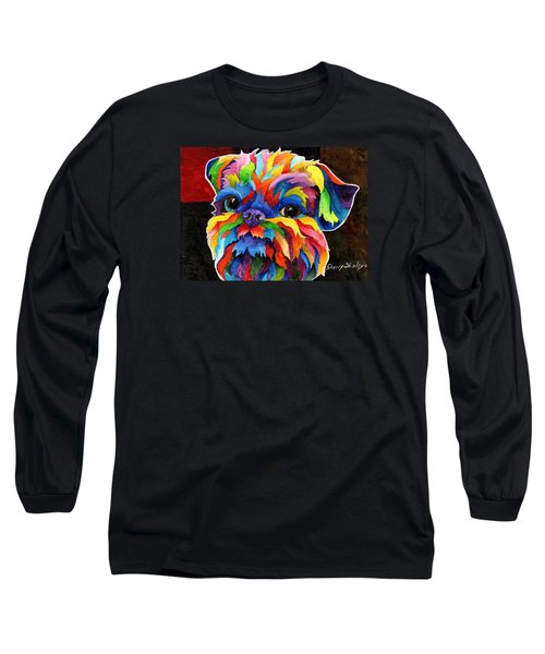 Brussels Griffon Long Sleeve T-Shirt by Sherry Shipley