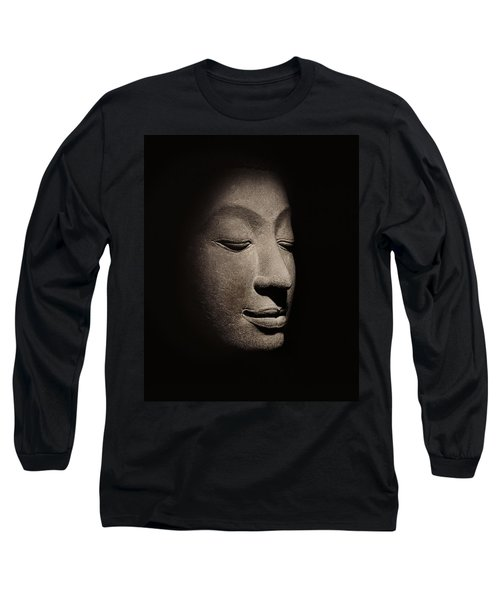 Buddha Head From The Early Ayutthaya Period Long Sleeve T-Shirt