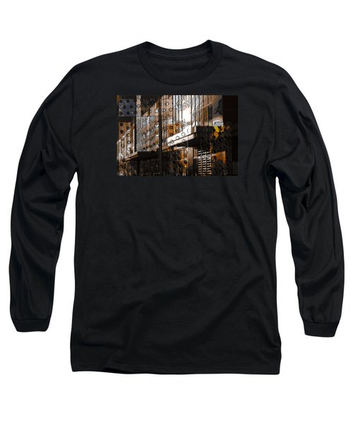 Building With Shimmering Circles Long Sleeve T-Shirt by Don Gradner