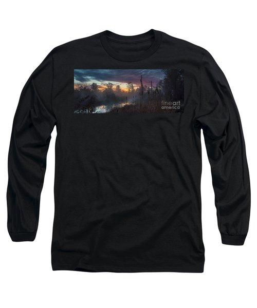 Bulrush Sunrise Full Scene Long Sleeve T-Shirt